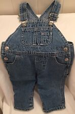 Overalls Baby Gap Boy Bib Blue Jean Denim Cotton 6-12 Months Kids Baby Clothing