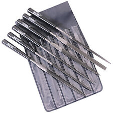 Draper 6Pce Needle File Set Precision Jewellers Small Jewelry Metal 140mm