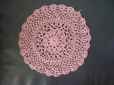 Servilleta de dinero de encaje hecho a mano color rosa de algodón con moneda de plata Imperial suerte
