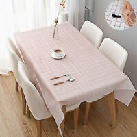Waterproof Table Cloth Cover PVC Protector Dining Kitchen Wipe Clean Tablecloth
