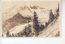 Curtis Real Photo Postcard Paradise Where Flowers & Glaciers Meet Rainier NPWA