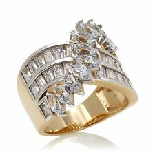 VICTORIA WIECK VERMEIL 3.29CT ABSOLUTE MARQUISE BAGUETTE OVERLAY RING SIZE 6 HSN