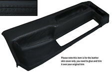 BLACK STITCHING CENTRE CONSOLE LEATHER SKIN COVER FITS BMW 3 SERIES E30 84-91