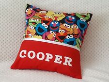 SEASAME STREET - Child's/Boys/Girls Personalised Character Cushion Cover -