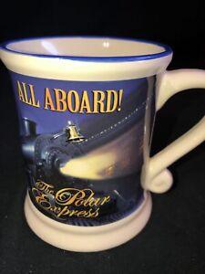 """Polar Express """"All Aboard"""" 3D BELIEVE Blue Coffee Mug Warner Bros 12oz"""