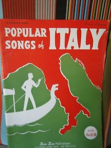 POPULAR SONGS OF ITALY BY PIETRO DEIRO JR 32 pgs ACCORDION MUSIC BOOK NOS
