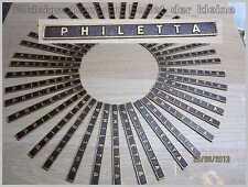 Philips PHILETTA -Schild-Schild-Schriftzug-Emblem-