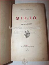Theatre: Angel Livio ferreri, Silius tragedy with Historical Notes 1885 Rome