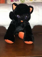 "14"" Build a Bear Lucky Kitty Black Cat Halloween Retired"
