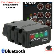 US ELM327 Bluetooth OBD2 OBDII Car Code Reader Diagnostic Scanner For Android PC