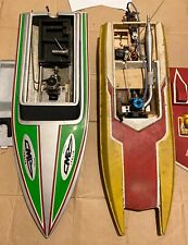 2 Vintage Nitro Rc Boats Catamaran Hydro Vee