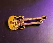 Hard Rock Cafe Pin Jakarta - Yellow & Black Doubleneck Guitar - (#3736) - 1998