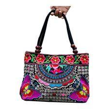Chinese Style Women Handbag Embroidery Ethnic Summer Fashion Handmade Flowe G5w3 2