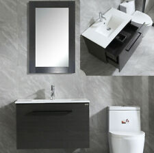 24 inch Vanity Cabinet Mounted Bathroom Black Faucet W/ Mirror / Without Mirror