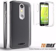 For MOTO X Force / Droid Turbo 2 XT1585 Slim 360Clear Case Cover Full Body