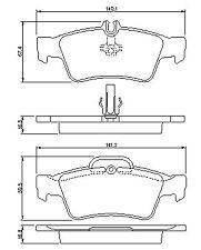 Mercedes-Benz E-Class T-Model S211 2003-2009 Vetech Rear Brake Pad Set