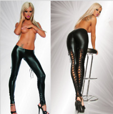 Low rise sexy skinny PVC leather leggings Punk latex rock pencil pants Trousers