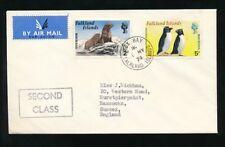 FALKLAND ISLANDS 1974 SECOND CLASS AIRMAIL FOX BAY to HASSOCKS GB