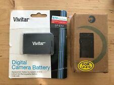 Canon LP-E10 Battery and Wall Charger LP Vivitar 1100mAh VIV-CB-E10 NEW