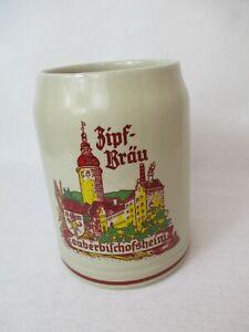 Brauerei Bierkrug Zipf - Bräu Tauberbischofsheim mit Stadtansicht alt
