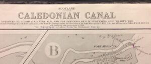 ADMIRALTY  SEA  CHART. CALEDONIAN CANAL. No.1791. SCOTLAND. 1920.