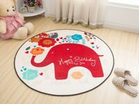 Teppich Rund Kinderteppich Kinder Spielmatte Kinderdecke Kinderzimmer 60-100 cm