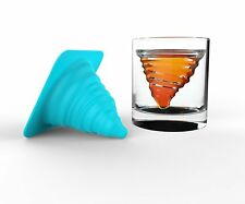TORNADO Silicone Ice Mould & Glass Set Ideal for Whiskey Spirits Cocktails