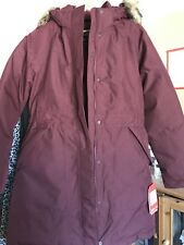 The North Face Women's ARCTIC PARKA 550 goose down. Rare Deep Garnet Red size M