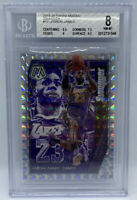 LEBRON JAMES 2019-20 PRIZM SILVER MOSAIC SWAGGER GEM MINT BGS 8 NM-MT LAKERS