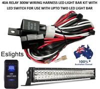12V 40A LED LIGHT BAR WIRING HARNESS LOOM SWITCH KIT WITH RELAY 4WD SPOT OFFROAD