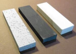 "Hard,Soft, Black Arkansas 6"" X 1 5/8"" X 1/2"" Pocket Whetstones,3 stone set"