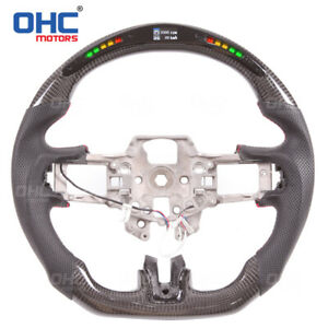 100% Real Carbon Fiber LED Steering Wheel for Ford Mustang GT  Performance