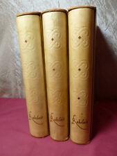 ŒUVRES COMPLÈTES DE RABELAIS 1490-1553 3/3vols gouaches d'Yves Brayer