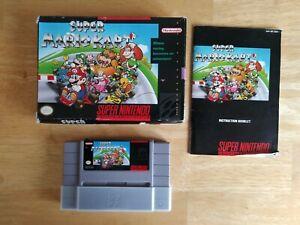 Super Mario Kart (Super Nintendo 1992 SNES) Original Box TESTED & WORKS