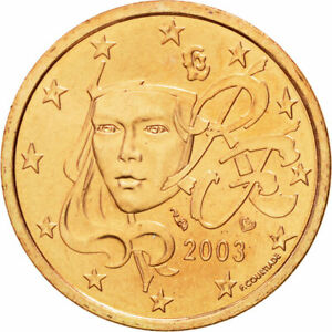 [#582043] France, 5 Euro Cent, 2003, SPL, Copper Plated Steel, KM:1284