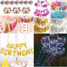 HAPPY BIRTHDAY Foil Confetti Balloons Banner Bunting Birthday Party Supply Decor