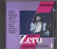 """RENATO ZERO - RARO CD FUORI CATALOGO 1992 """" I GRANDI SUCCESSI 1 """""""