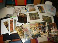 stock piu' di 50 stampe varie pittori famosi antiche ottime per mercatini