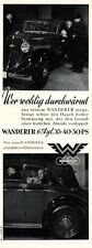 Wanderer 6 cylinder automobiles 1936 German ad Auto Union advertising