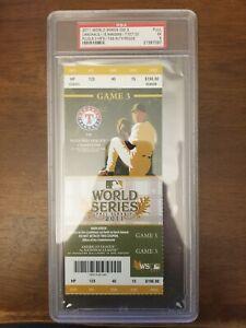 2011 WORLDS SERIES GAME 3 - TEXAS RANGERS ST LOUIS CARDINALS - PSA GRADE 5