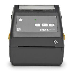 """Zebra ZD420 Direct Thermal Desktop Barcode Label Printer 4"""" 203 DPI USB"""