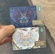 Starbucks 2020 China White Blue Happy Dragon Boat Festival Gift Card With Sleeve