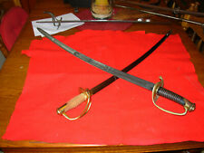 Vintage Civil War Saber And Sword (2) Us Officer And Confederate Cavalry Nice!