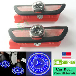 2x LED Door Courtesy Shadow Logo Lights for Mercedes-Benz W222 S-Class 2014-2019