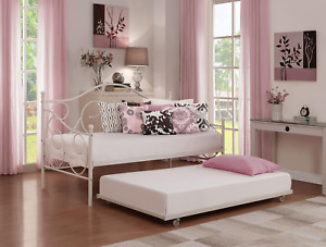 Universal Daybed Trundle, Multiple Colors - White size twin frame