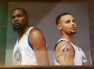 STEPH CURRY KEVIN DURANT SIGNED PHOTO 11X14 GOLDEN STATE WARRIORS BECKETT