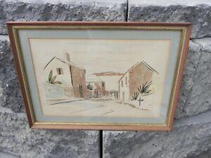 St Georges Bermuda Alfred Birdsey Watercolor Painting circa 1963