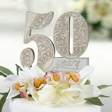 50th Anniversary Cake Pick Top Topper Birthday Resin Party Gift Celebration