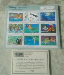 DISNEY CLASSIC 50th ANNIV. FAIRYTALE STAMPS*PETER PAN*LTD.EDITION*NEW IN PACKAGE
