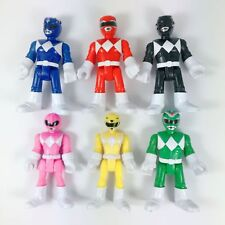 lot of 6pcs Imaginext Power Rangers Pink Yellow Red Blue Black Green Ranger